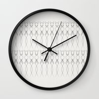 luke hemmings Wall Clocks featuring One line nude by quibe