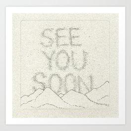 Sky Writing: See You Soon Art Print