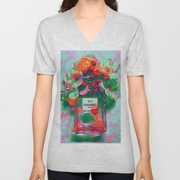 Fragrance 5 Flowers Unisex V-Neck