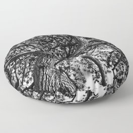 A Study of a Canadian Pine Tree Floor Pillow