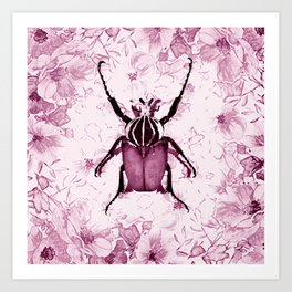 Beetles Can Be Hipsters Too Art Print