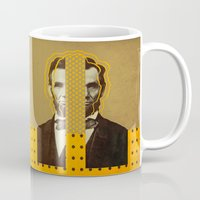 lincoln Mugs featuring AbracadAbraham - Lincoln by AmDuf