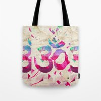om Tote Bags featuring OM by Pranatheory