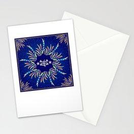 Baha'i ring stone symbol in blue Stationery Cards