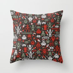 Vintage Robots Throw Pillow