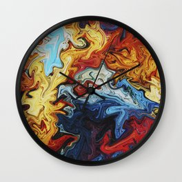 Night's Bright Colors - Color Liquid in Water Wall Clock
