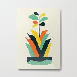 Exotic geometric plant Metal Print
