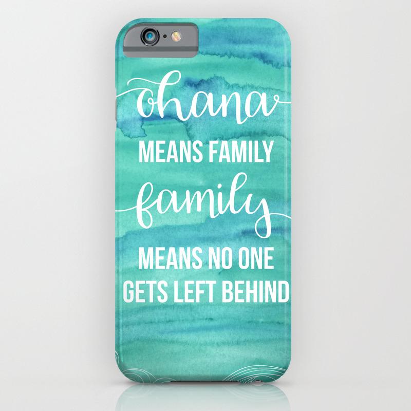 pretty nice 65c43 11c50 Ohana means Family iPhone Case