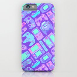 Video Game Controllers in Cool Colors iPhone Case