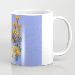 California State Bird Quail and Golden Poppy Coffee Mug