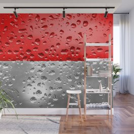 Flag of Indonesia - Raindrops Wall Mural