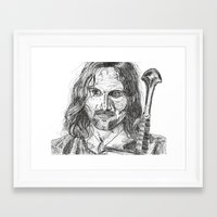 aragorn Framed Art Prints featuring Aragorn by Mona Guilbeault