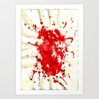 blood Art Prints featuring blood by LaSoffittaDiSte