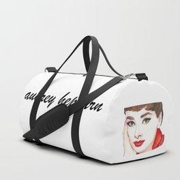 Audrey Hepburn Portrait Duffle Bag