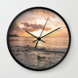 Caribbean Sea, Mayan Riviera Wall Clock