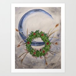 Holly Moon Art Print