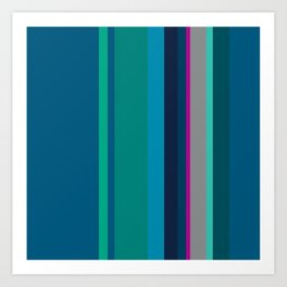 Spring collection - green - strips Art Print