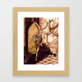 Solas leaves Lavellan Framed Art Print