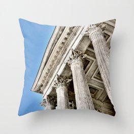 Roman Temple Corinthian Columns Nimes Provence France Throw Pillow