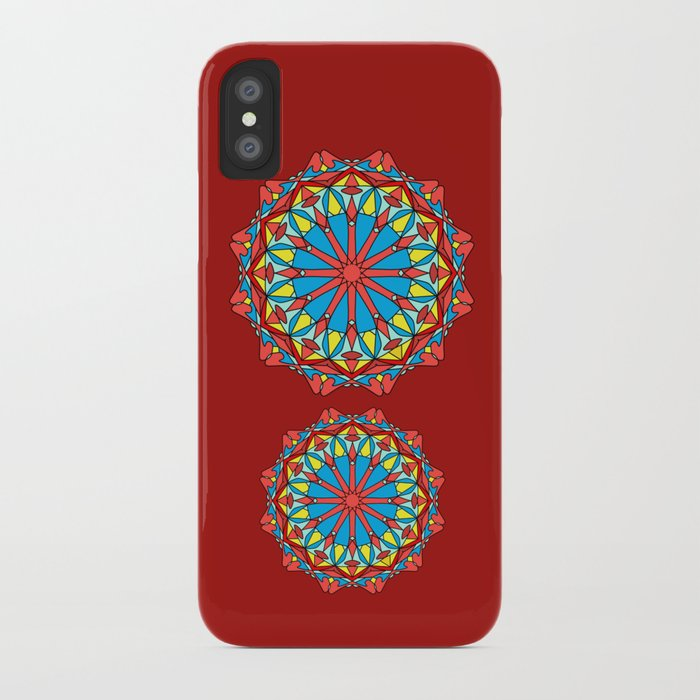 Ruby Mandala - Red iPhone Case
