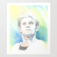 niall Art Prints featuring Niall by Rach