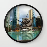 vancouver Wall Clocks featuring Vancouver by Chris Root
