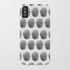 Watercolour polkadot black Slim Case iPhone X