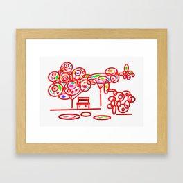 garth - garden pop colorful Framed Art Print