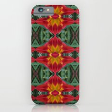 Red Lily Flower Abstract Pattern iPhone 6s Slim Case