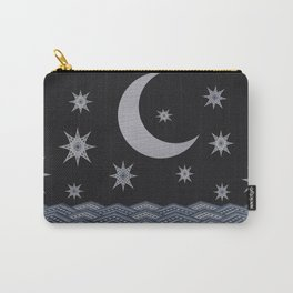 Starry sky over the sea denim photocollage Carry-All Pouch