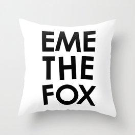 EME THE FOX Throw Pillow