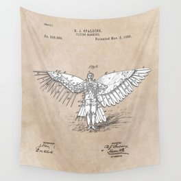 patent art Spalding Flying Machine 2    1889 Wall Tapestry