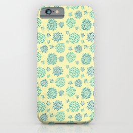 Painted Petals Pattern iPhone Case