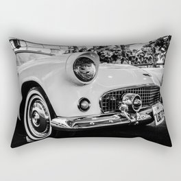 Classic 57 T-bird Black and White Photographic Print Rectangular Pillow