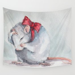 Rat bow Wall Tapestry