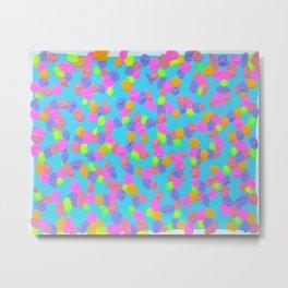 Spring Colors Drip Abstract Art Metal Print