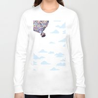pixar Long Sleeve T-shirts featuring disney pixar up.. balloons and sky with house by studiomarshallarts