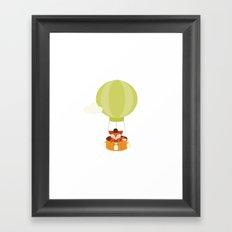 Flying fox 1 - Cute Animal illustration- #Fox on #Society6 Framed Art Print