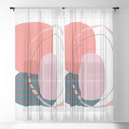 Coral based Sheer Curtain