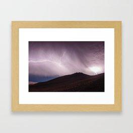 Violent Storm Framed Art Print
