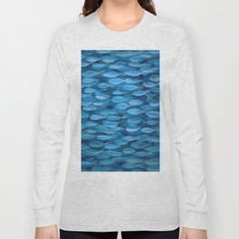 Shimmer Shoal in Blue Long Sleeve T-shirt