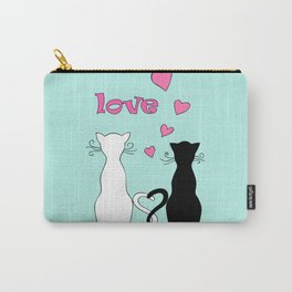 Couple cats with love Carry-All Pouch