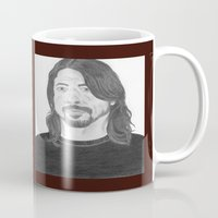 dave grohl Mugs featuring Dave Grohl , Portrait Art by N_T_STEELART