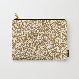 Tiny Spots - White and Golden Brown Carry-All Pouch