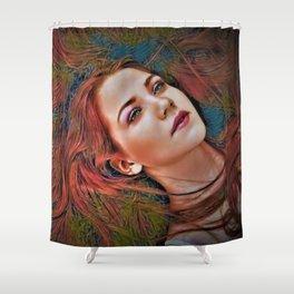 "All Night Forever ""Female Portrait"" by Jeanpaul Ferro Shower Curtain"
