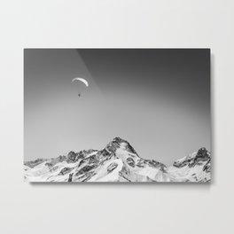 Alpine Paraskiing Metal Print