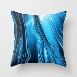 Streaming Deep Blues Throw Pillow