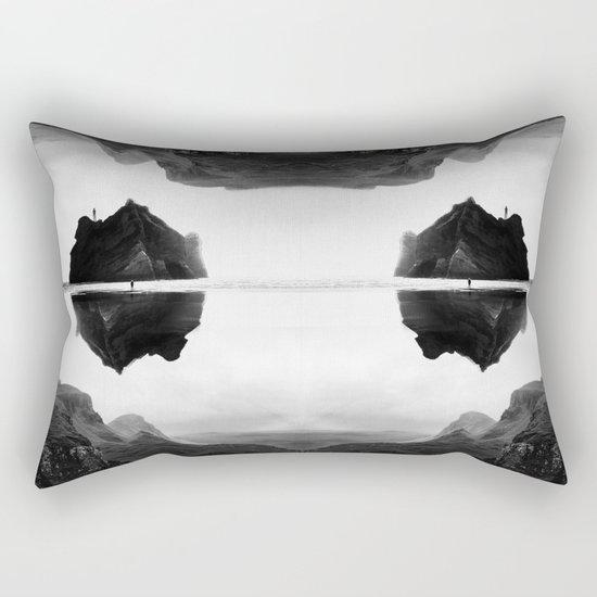 Black and White Isolation Island Rectangular Pillow