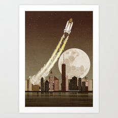 Rocket City Art Print
