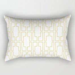 Simply Mid-Century in Mod Yellow Rectangular Pillow
